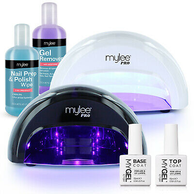 Mylee Convex LED Nail Dryer Manicure Starter Kit Bluesky Gel Top & Base Coat