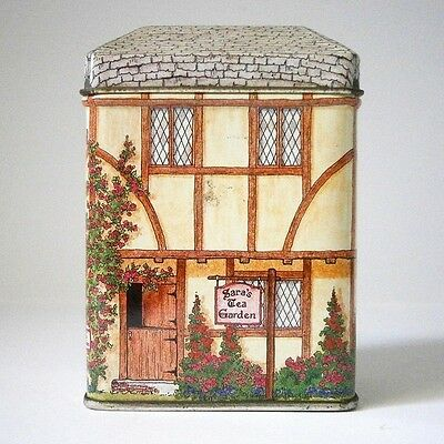 Miniature Shop Tin Sara'S Tea Garden Old Style English Cottage Lolly Tin