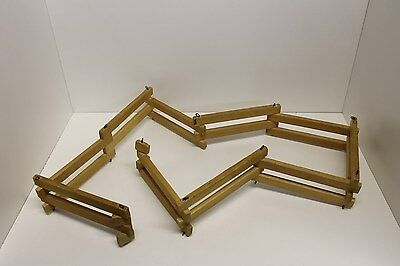 "Vintage Hand Made Wood Toy Horse Folding Fence Corral - 2.5"" T x 4' 9"" L, Breyer"