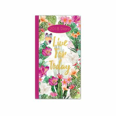 Live for Today 2018 Slim Cased Diary
