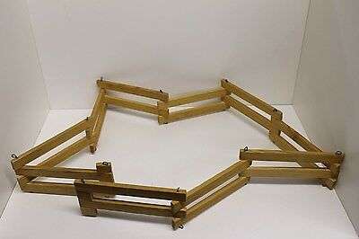 "Vintage Hand Made Wood Toy Horse Folding Fence Corral - 3"" T x 5' 1"" L, Breyer"