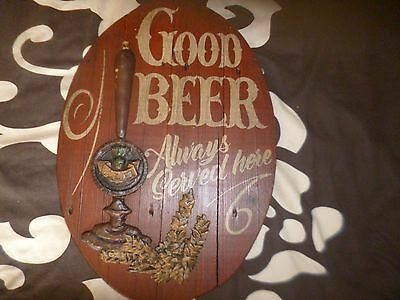 Wooden  Good Beer Always Served Here 3D Pub Wall Plaque