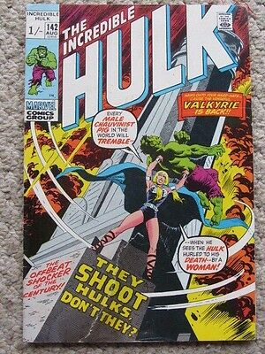 Incredible Hulk #142 (1971) 2nd Valkyrie, Thomas/Trimpe/Severin - see notes
