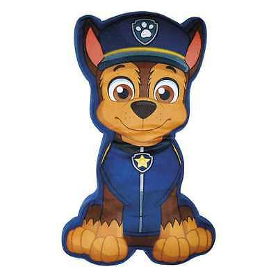 Paw Patrol Chase Print Shape Pillow Cushion Soft Blue Kids Boys Childrens New