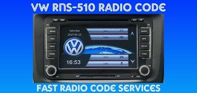 VW Radio Stereo Code SAFE PIN Unlock Decode Service for RNS Navigation & CD