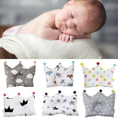 Infant Baby Crown Pillow Sleeping Support Positioner Prevent Flat Head Cushion
