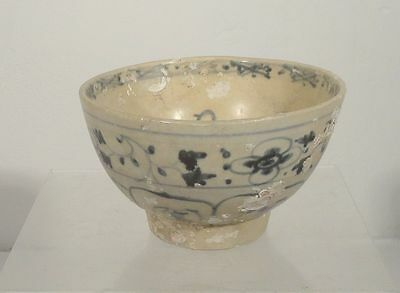 Antique Early Anamese Ming Period Underglaze Blue and WHite Hoi AN Hoard Bowl