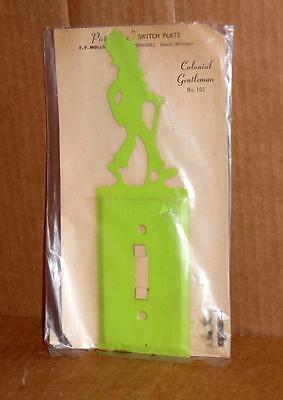 Vtg Light Switch Wall Plate Decorative Metal Wall Light Switch Cover Plate #2