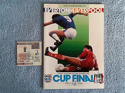 1986 - FA CUP FINAL PROGRAMME + MATCH TICKET - EVERTON v LIVERPOOL