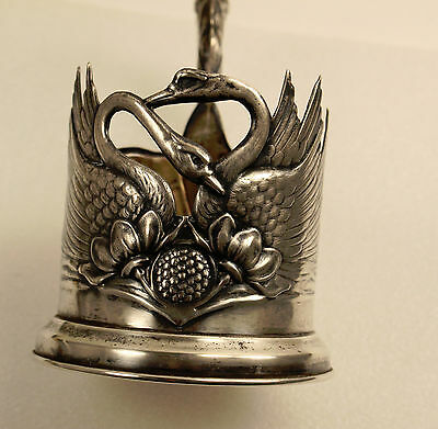 Antique Russian Solid Silver 875 Tea Cup Holder