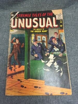 Strange Tales Of The Unusual #10-Atlas Horror-1957-Severin/morrow-G