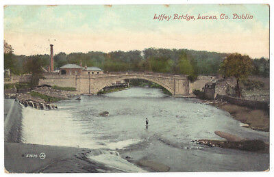 LUCAN Co Dublin, Liffey Bridge, Old Postcard by Valentine, Postally Used