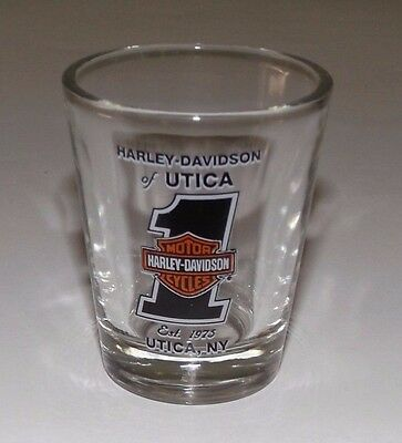 HARLEY DAVIDSON of Utica Shot Glass Motorcycle Barware