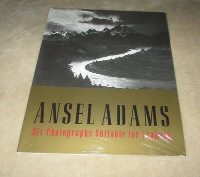 """Ansel Adams Black And White Fine Art Prints (Set Of 6) 11"""" X 14"""" Photography"""