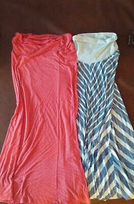 lot of 2 maternity maxi skirts size medium and small