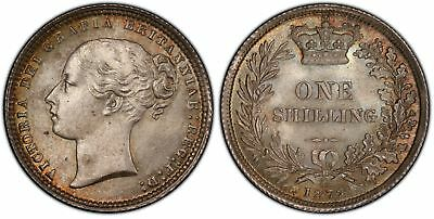GREAT BRITAIN. Victoria. 1872 AR Shilling. PCGS MS66. KM 734.2; S3906A Die #98