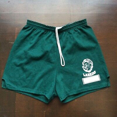 Vintage Laredo Middle School Lions Dark Green Russell Athletic Shorts Mens Large