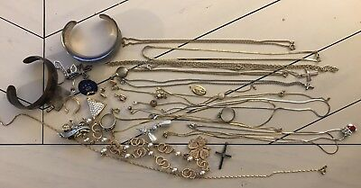 Scrap Jewelry lot 925 MIXED Monet Unknown, SOLD AS IS