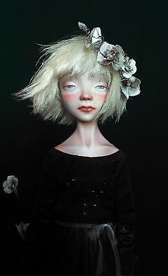Toma OOAK Paper Clay Doll 21'' Art Doll by Anna Zueva