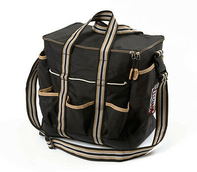 Shires Grooming Kit Carry Bag  Black/Tan One Size - Helmet Carry Bag