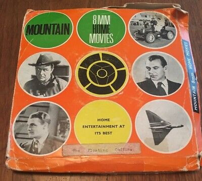 """Rare 8mm Cine Film Reel """"The Floating Coffin"""" 400ft Reel Mountain Home Movies"""