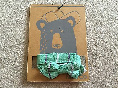 Boys green neck bow tie from Next NWT  size 11 - 12 - 13 years