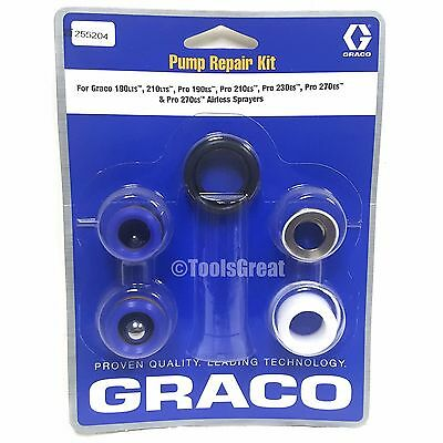 Graco 190lts, 210lts, Pro 190es, 210es Sprayer Pump Packing Repair Kit 255204