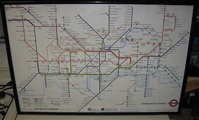 "Authentic London Tube Underground Map Poster Large 36"" x 24"""