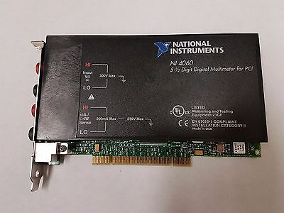 National Instruments PCI-4060 DMM 5-1/2 Digits with PCI to PCIe adapter