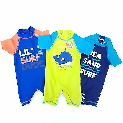 New Baby / Boys UV Sun Safe SPF 50 Swimsuits . 3 6 9 12 18 24 mth 2-7 yrs