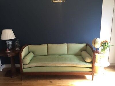 Antique French Louis XV Day Bed/ Sofa In Green