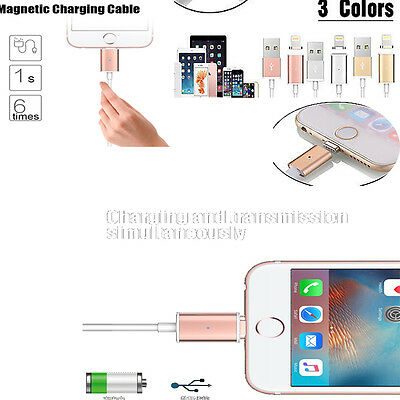 Magnetic Charging Cable Adapter Charger Data Sync For iPhone 5S 6 6S 7 Plus iPad