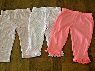 3 Pair Just One You by Carters Girls Size 6 Months Pants NWOT