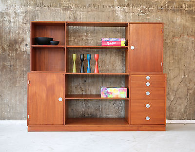 60er FINN JUHL Cresco TEAK HIGHBOARD REGAL KOMMODE FRANCE & SON 60s WALL SYSTEM