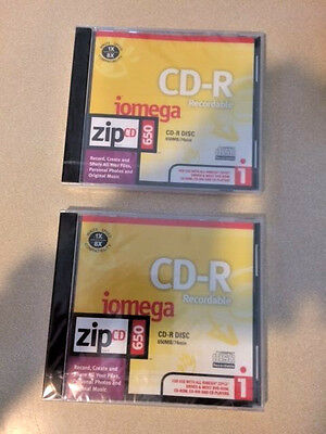 iomega Recordable ZipCD 650 CD-R Disc w/ Write Speed 1X - 8X Compatibility