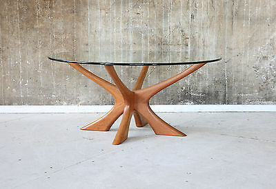 60er ILLUM WIKKELSO TEAK COUCHTISCH DANISH 60s VINTAGE COFFEE TABLE SOFA TABLE