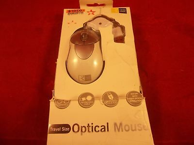 C24 Case Logic ER-200 Wired USB Optical Mouse with Retractable Cable White