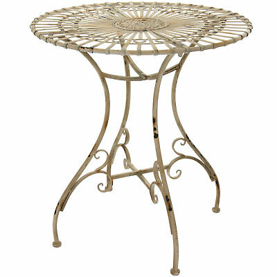 Oriental Furniture Rustic Garden Table - Distressed White