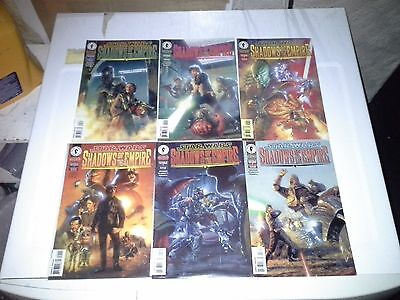 STAR WARS SHADOWS OF THE EMPIRE #1 - 6 Comic Books