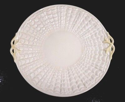 Beautiful Belleek Black Mark Tridacna Cake Plate