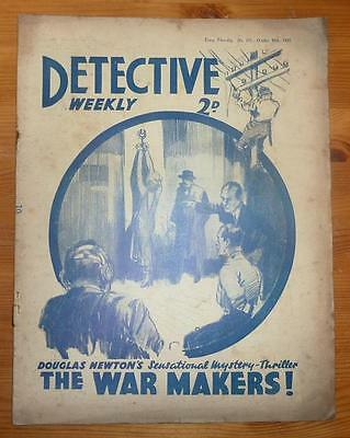 DETECTIVE WEEKLY No 245 30TH OCT 1937 THE WAR MAKERS! BY DOUGLAS NEWTON