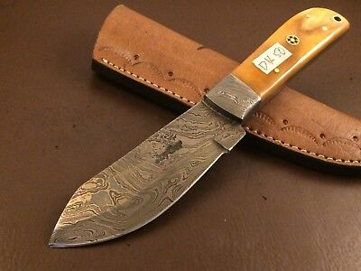 Handmade-Blacksmith Damascus Steel Knife-Functional-Sharp-dk50