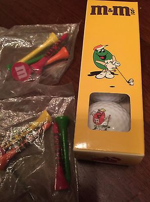 FREE SHIPPING! Lot of M&M's M&M/MARS Golf Balls and Tees - RARE!