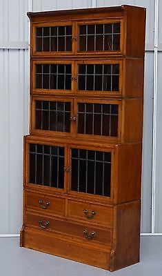 William Baker Co Ltd Of Oxford Stacking Legal Bookcase The Finest Minty Globe