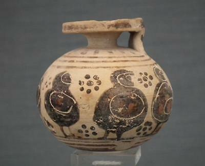 Ancient Greek Corinthian 6th century BC Pottery Perfume Aryballos With 5 Hoplits