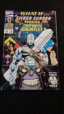 1993 Marvel Comics What If Silver Surfer Possessed Infinity Gauntlet #49