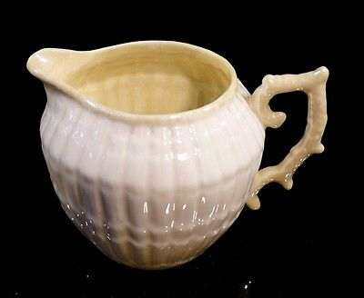 Beautiful Belleek Black Mark Limpet Yellow Creamer