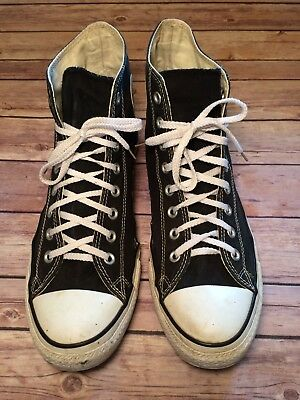 Men's Black Hightop Converse All-Star Chuck Taylor Sneakers Size 11
