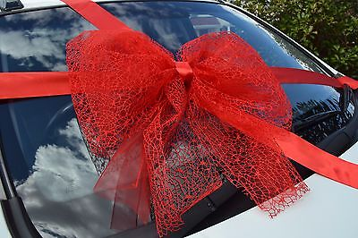exclusive large giant big gift bow satin ribbon birthday Christmas bow packing