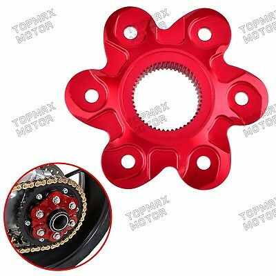 CNC 6-hole Rear Chain Sprocket Hub Carrier Flange Cover For Ducati 1198 R S SP